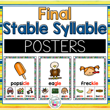 Final Stable Syllable Posters