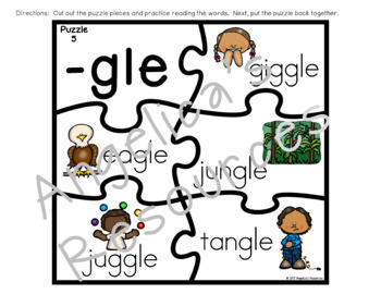 Final Stable Syllable Puzzles : Literacy Center Activities