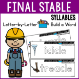 Final Stable Syllable Words - WORD BUILDING MATS
