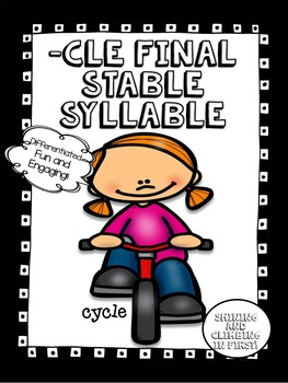Final Stable Syllable -cle - Word Work! No Prep!