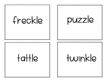 Final Stable Syllable -le