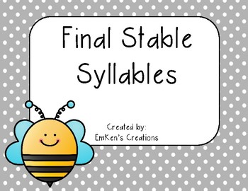 Final Stable Syllables