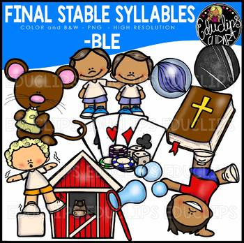 Final Stable Syllables -BLE {Educlips Clipart}