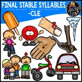 Final Stable Syllables -CLE {Educlips Clipart}