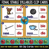 Words Ending in -le Clip Cards