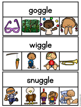 Final Stable Syllables Clip Cards