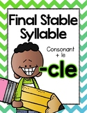 Final Stable Syllables -LE Sound {-CLE}