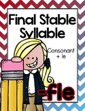 Final Stable Syllables -LE Sound {-FLE}