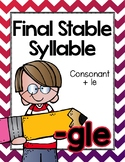 Final Stable Syllables -LE Sound {-GLE}