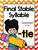 Final Stable Syllables -LE Sound {-TLE}