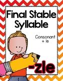 Final Stable Syllables -LE Sound {-ZLE}