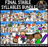 Final Stable Syllables Mega Bundle {Educlips Clipart}