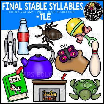 Final Stable Syllables -TLE {Educlips Clipart}