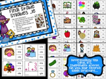 Final Stable Syllables Activities