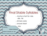 Final Stable Syllables -ble, -dle, -tle