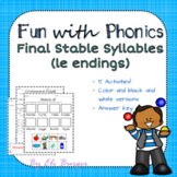 """Final Stable Syllables - """"le"""""""