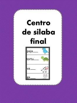 Final Syllable Center-Spanish