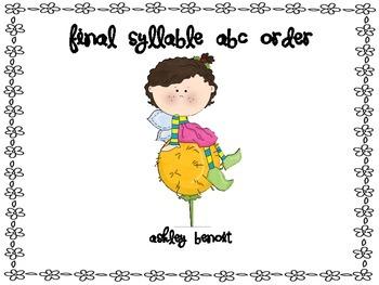 Final Syllable Centers {LE}