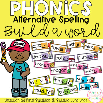 Final Syllables & Syllable Juncture Build a Word - Phonics Alternative Spelling