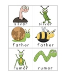 Final Syllables -er, -ar, -or Memory Game