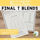 Final T Blends Orton-Gillingham Level 1 Multisensory Phonics Activities