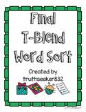 Final T-Blends Word Sort