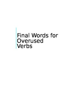 Final Word for Overused Verbs