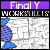 Final Y Worksheets- Y says long i or long e