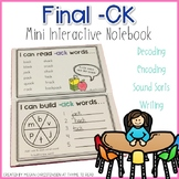 Final -ck Mini Interactive Notebook