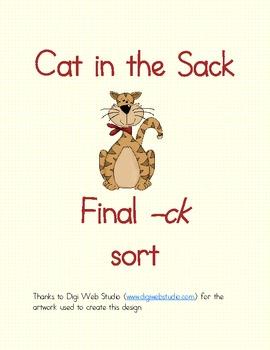 Final Ck Word Sort By Sarah O Neal Teachers Pay Teachers