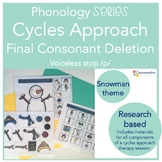 Final consonant deletion {cycles approach} final /p/