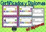 Final de curso Certificados Diplomas Premios Graduación Español
