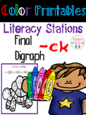 Final digraph CK Word Work for Literacy Stations