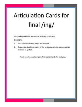 Final /ing/ Flashcards