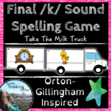 Final /k/ Spelling Game - Take The Milk Truck - Orton-Gill