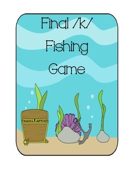 Speech Therapy: Final /k/ words fishing game