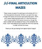 Final /r/ Articulation Mazes