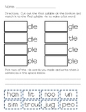 Final syllable -le cut and paste