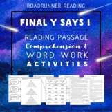 Final y says Long i   Reading Passage   Comprehension & Word Work Activities
