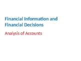 Finance – Analysis of Accounts