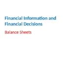 Finance – Balance Sheets
