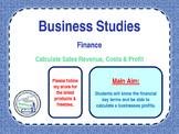 Finance - Calculating Sales Revenue, Costs & Profit - PPT & Worksheet