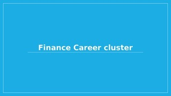 Finance Career Cluster Presentation