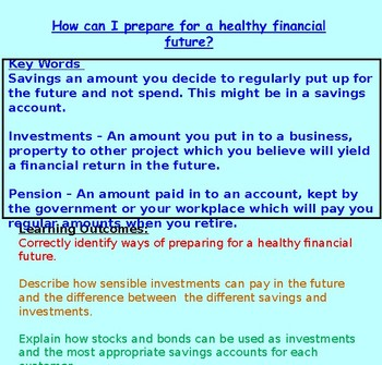 Finance: Investing: Financial Education