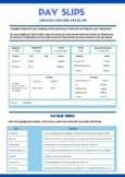 Finance / Math Payslip Worksheets X2 and Answer Sheets. Un