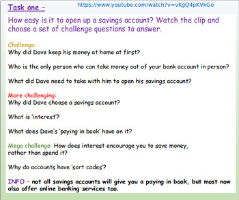 Finance: Saving and Loans