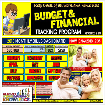 Finance and Expense Tracking Excel Software: Home and Work