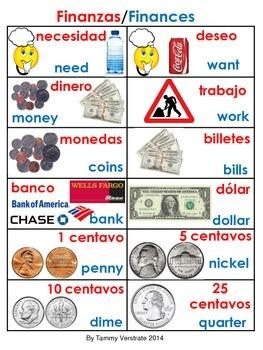 Finances Bilingual Poster