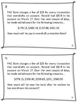 Financial Algebra - Checking Accounts & Overdrafting