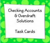 Checking Accounts & Overdraft Task Cards